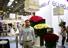Fausto Monetor Pazmina of Monteras grows 54 varieties on 12 ha in Ecuador and is exhibiting at the FlowersExpo for the fifth time.