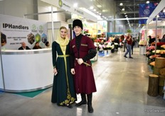 A couple in a traditional Russian dress from the region Cirasissian were walking down the aisles of the show and caught the eye of many visitors and exhibitors.