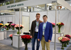 Alexandr Safaraliyev and Artem Smerkalov of ZNS Group Limited. They consolidate flowershipments from Kenya and export around 60 percent to Russia and 40 percent to Kazachstan, Kirchistan, Middle East and Europe. Safaraliyev explains that it has been a though year for Kenya because of the weather conditions. The demand was there, but the production low.
