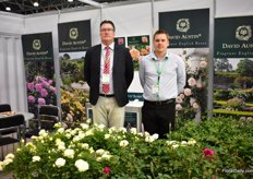 Aivars Mirseps and Gareth Minton of David Austin Roses presenting their garden roses. According to Mirseps there is no particular or popular color for garden roses in Russa. The demand changes every year.