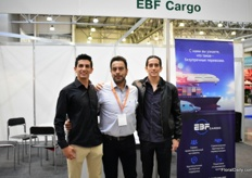 Patricia, Fernado and Patricio Brito of EBF are finding new clients in Russia.