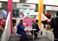 Meetings at the Cargex booth.