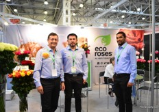 The team of Eco Roses. Over the last years, this Ecuadorian rose grower reduced its exports to Russia, but it is still an important market to them; around 30 percent of their prodiction volume goes to this market.