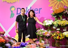 Warja Abrosimova of Dekker Chrysanten with a famous Russian flower designer.