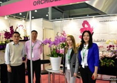 The team of Orchidelia. They grow orchids in a 1,000 m2 greenhouse in Russia and they are planning to enlarge their production area five times.