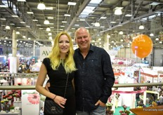Katerina Afnahel and Peter Grootscholten of Floradirect were also visiting the show. This Dutch company exports flowers and plants from all over the world to Russia and the surrounding countries.