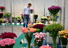 The flowers participating in the competition.