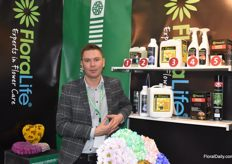 Eugene Taranukha from FloraLife also showed his products on the expo.