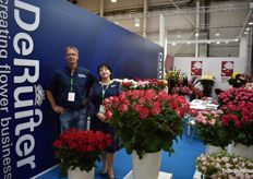 Arjen Vlasman & Olga Aristova from De Ruiter. They showed a lot of beautifull roses.