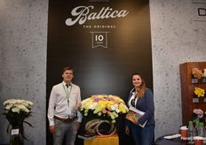 Rob Stoom and Lejla Begovic are showing us their Baltica.