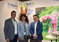 Here we got Timmo Draaisma, Yulia Morozoca and Kees vd Meij from Kbol. It was already their 14th time at the Flower Expo.