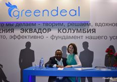 Philip Mambo and Polina Kolyachko both from Greendeal.