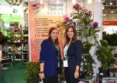 The ladys from Enigma Flowers. On the left we have Julia wich is working for the Israelien part of teh company and at the right we got Alina wich is working for the Dutch root.