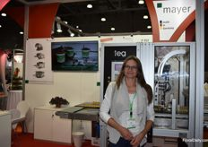 Also Nadja Chodora from Mayer was there and she shows us the machine of their partner TEA who does al the work in Russia for them.