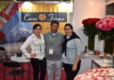 Carla Morales, Luis Morales and Silvia Buitron from Ceres Farms showed some beautifull flowers.