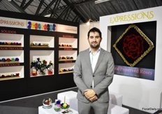 Jose Ignacio Carcelen of Expression. He produces preserved roses in Cayambe.