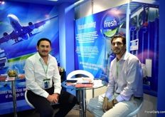 Eduardo Alarcon and Richard Gome of Fresh Logistics.