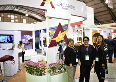 The team of AER Caribe, from left to right: Johana Bermucien, Nancy Bazan Lozano and Martha Lucia Gutierrez.