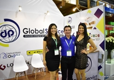 Mabel Zavala and Marco Ordonez of Globel Service with their model.