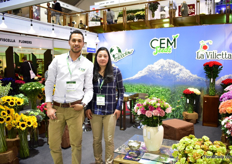 Nelson Benavide and Monica Arevalo of CEM Seeds. They sell seeds of Gloeckner and La Villetta.