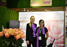 Ekaterina Kamendova and Marieliza Vasquez of Ecualand, a flower broker. They work with 300 plantations and most of their customers are based in Russia.