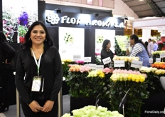 Alejandra Baez of Flor Aroma. Over 70 varieties of roses are grown by this Ecuadorian farm on 45ha.
