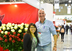 Vanessa Quispe of Nikita with Huib Bruynzeels, who was visiting the show.