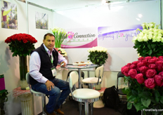 Gabriel Yanez of High Connection Flowers and Spring Vogue Roses. This Ecuadorian grow roses on 8ha and are planning to grow callas next year.
