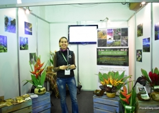 Juliana Cadavid of Su Jardin. On their 250ha plantation, thye grow tropical flowers in Medillin, Colombia.