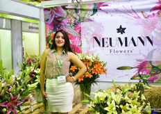 Nancy Tiscama of Neumann Flowers. They grow lilies on 9ha in Guayllabamba.