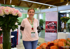 Jennifer Rodriguez of Alco Flowers and Edfinc. Alco grows roses on 5ha and Efinc hypericum and spray roses on 3.5 ha.