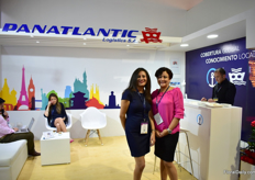 Alejandra Aragundi and Liliana Vargas of Kuhne and Nagel. Regently K+N took over Panatlantinc. This will be the last time that Panatlantic will be exhibiting.