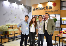 Shinya Ogata, Tianli Zhang, Daniela and Oscar Cuertas of Selectas one. For the gyps, they are promoting the Grandtastic; a large flower gypsphila with 11-12 mm flowers. According to Daniela, the reactions to this new product are vary positive.