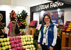 Andrea Romera of Dream Farms. They grow roses and tinted roses on 7.5ha.