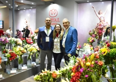 The team of Royal Flowers, from left to right: David Sanchez, Macarena Biancha and Tom Biondo. A highlight at their booth is their hydrangea flowers, but the bouquets as well. 90 percent of the flowers used in the bouquets are grown on their farm.