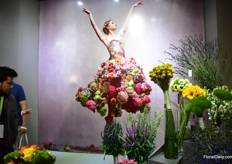 The ballerina with flowers at Royal Flowers.