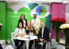 The team of Circasia, at the Asocolflores pavillion.