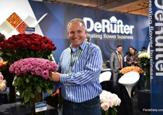 Rene Streng of Cut Flower Wholesale, from the US, came to visit the show.