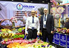 Juan Alvarez and Bill Pemberton of Golden Flower, an importer and distributor in Miami. They supply bouquets and added value products to wholesalers, retailers and mass market.