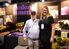 David Kaplan and Kristin Gilliland of Gardens America. This third generation familily company imports flowers from all over the world and supplies wholesalers, retailers and supermarkets. They have a wide assortment of flowers, but primarily show their novelty niche items at the PMA. Stores are looking for something special.