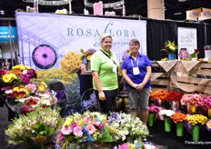 Urszula Sambor and Marlene Vanderselt of Rosa Flora. This Canadian grower is the largest gerbera, lisianthus and snaps grower in North America and is celebrates its 40th anniversary this year. They are currently expanding their farm. More on this later in FloralDaily.