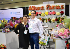 Gabriela Uribe and Daniel Uribe of Allure Farms. They import and grow roses and sell them all over the world. For the second time, they are attending the PMA as they are eager to break in to mass market.