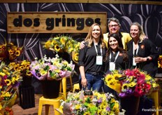 Team of dos gingos. Tehy are specialized in sun flowers that they grow in Mexico and Southern California. In total, they grow them in about 2000 acres open field. The bouquets are made at their assembly facilities in Mexico or San Diego.