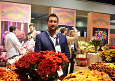 Elkin Benavides of Natur's Flowers. They grow flowers and make bouquets at three farms in Colombia and supply supermarkets in the US.
