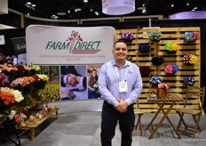 Sebastian Franco of Dirext Farms, an Ecuadorian 85ha grower. They mainly grow roses, spray roses, callas and lilies. They also produce consumer bunches and bouquets and supply retailers, super markets and wholesalers in teh US.