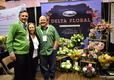 Foti Defterios, Colleen MCGrowan and Jason Fisher of Delta Flora. They make bouquets and arrangements in Los Angeles and import their flowers from all over the world. THey supply to mass supermarkets in the US.