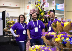 Stacy MacCoy, Eric Fernandez and Steve Fransen of Continental Flower. They grow and import flowers and distribute them in the US and Canada to mass market.
