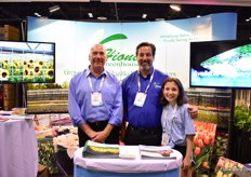 Jerry Montervino, Tim Hionis and Marianthe Hionis of Hionis Greenhouses. They grow potted plants indoors and outdoors and supply the North Eastern part of the country.