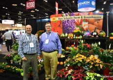John Marino and John Carl of Dan Schanz. They grow about poinsettias, bulbs, inside plants and pumpkins. They grow them in 50 acres of greenhouses on 4 locations.