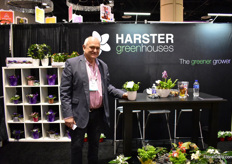 Andre Harster of Harster Greenhouses. They are specialized in miniplants and is selling most of them in a concept (plant with pot or self watering pot). They supply chain stores and garden centers.